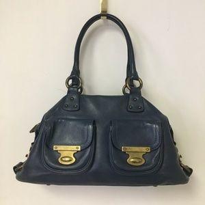 Marc Jacobs Navy Gemma Hobo Leather Purse